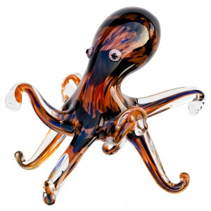 Glass Whiskey Brown Octopus
