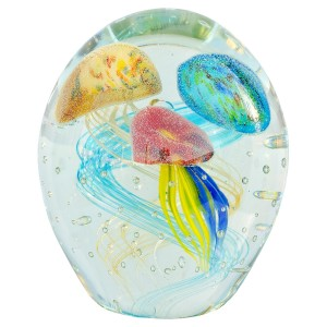 Large Glass Jellyfish Paperweight