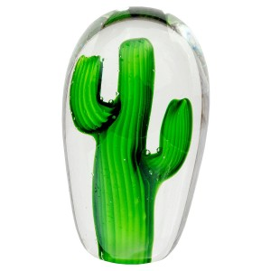 Small Glass Cactus