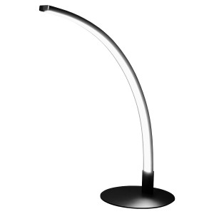 L.E.D Curved Black Table Lamp