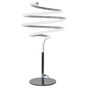 LED Spiral Silver Table Lamp