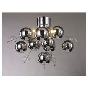 Chrome Ball Ceiling Light