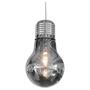 Smoked Bulb Shaped Ceiling Lamp