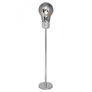 Smoked Bulb Shaped Floor Lamp