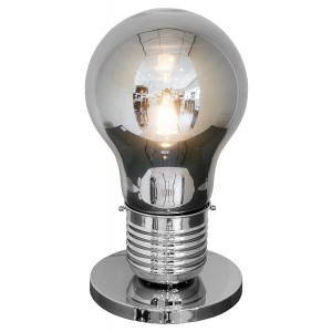 Smoked Giant Bulb Shaped Table Lamp