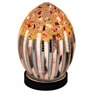 Mini Mosaic Glass Egg Lamp - Art Deco