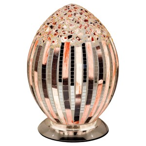 Mosaic Glass Egg Lamp - Art Deco