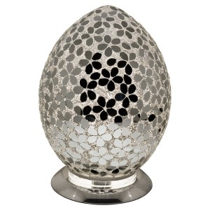 Mosaic Glass Egg Lamp - Mirrored Flower