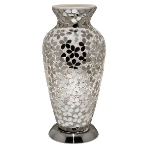 Mosaic Glass Vase Lamp - Mirrored Flower