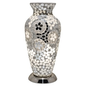 Mosaic Glass Vase Lamp - Mirrored Art Deco
