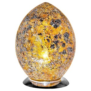 Mosaic Glass Egg Lamp - Yellow