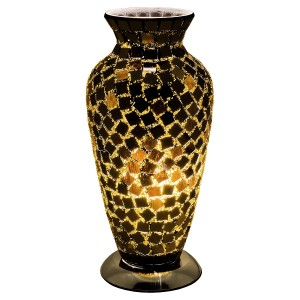 Mosaic Glass Vase Lamp - Black Tile