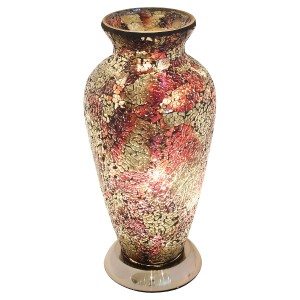 Mosaic Glass Vase Lamp - Amber