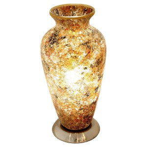 Mosaic Glass Vase Lamp - Yellow