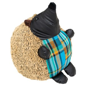 Blue Tartan Hedgehog Door Stop Plush