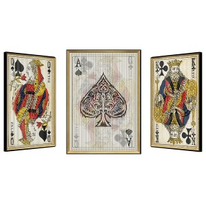 King/Queen/Ace Playing Cards Kinetic Wall Art