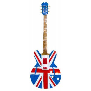 Union Jack Guitar 3D Metal Wall Art