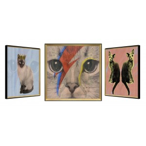 Glamour Puss Cats Kinetic Wall Art