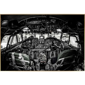 Black and White Cockpit Wall Art