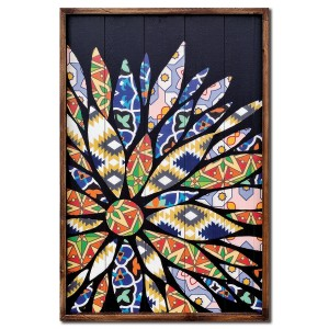 Flower Patchwork Panel Wall Art - Left Aligned