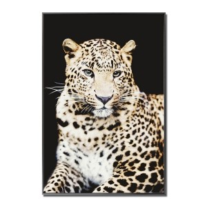 Cheetah Coloured Glass Art Picture