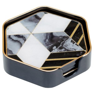 Coasters Hexagonal Diamond Design - Set of 4