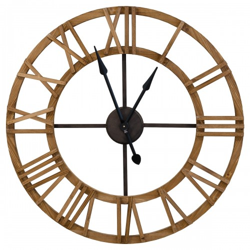 Large Round Wooden Wall Clock