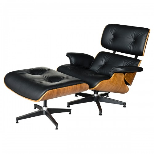 Eames Style Walnut Chair