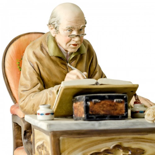Capodimonte The Old Notary By Volta Busy Clerk