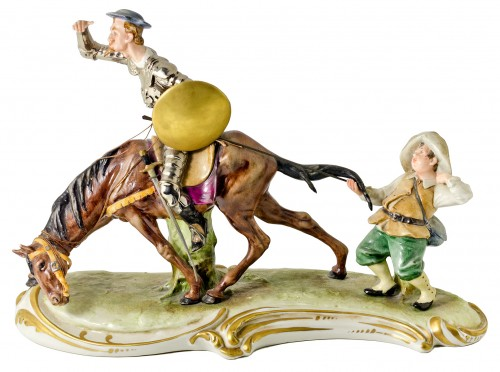 Capodimonte Don Quixote And Sancho Panza Man From La