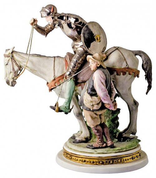Don Quixote and Sancho Panza by Giuseppe Cappé
