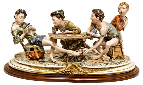 Capodimonte The Cheats Card Game Bruno Merli Italian