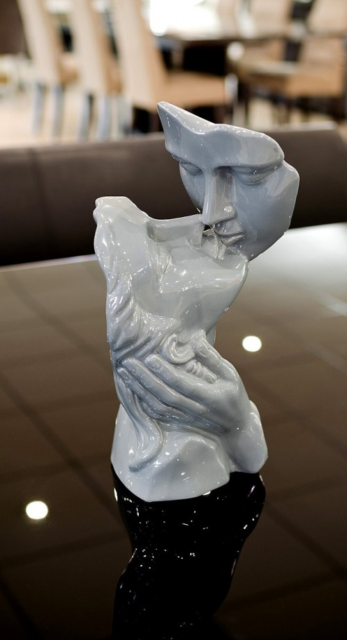 Lovers Kissing Sculpture in our showroom