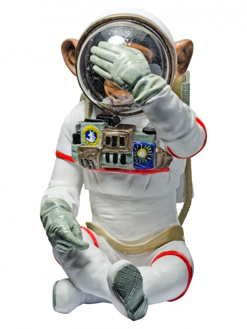 Monkey Astronaut Figurine - See No Evil