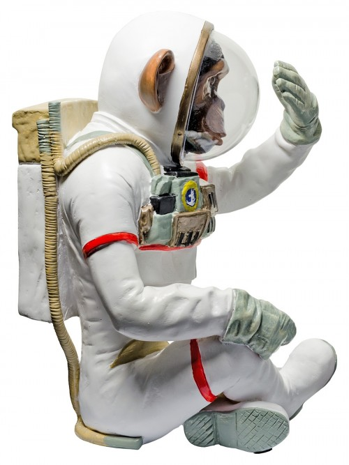 Monkey Astronaut Figurine - See No Evil - Side View