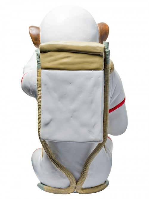 Monkey Astronaut Figurine - See No Evil - Back View