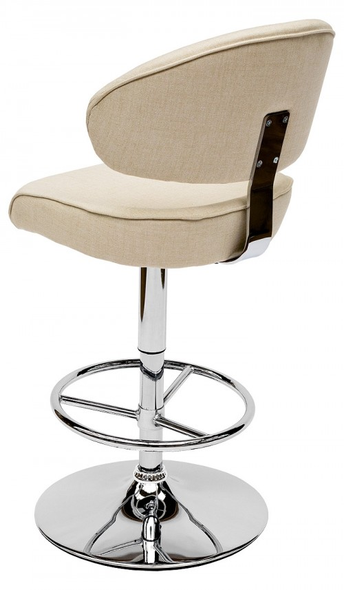 Casino Bar Stool - Arran Oyster Fabric - Back