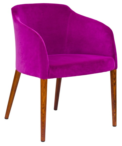 Brigida Tub Chair - Purple Fabric