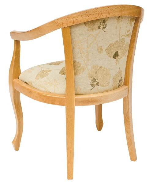 Heavy Smooth Open Arm Tub Chair - Back View