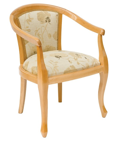 Heavy Smooth Open Arm Tub Chair - Front View