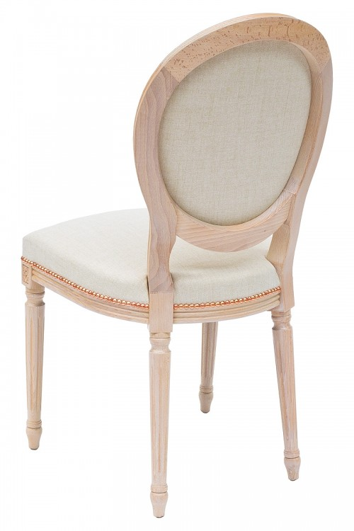 Georgian Dining Chair in Arran Oyster Fabric - Back View