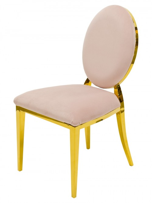 Silvia Gold Dining Chair - Front