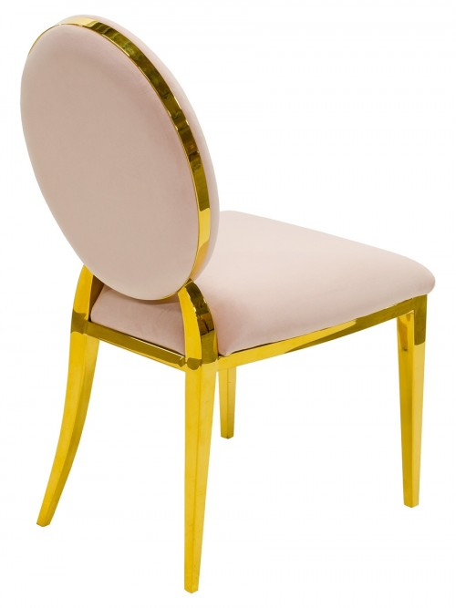 Silvia Gold Dining Chair - Back