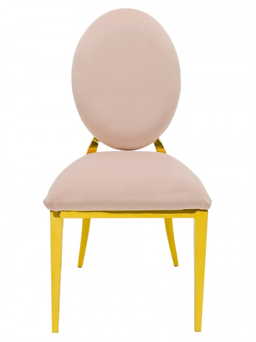 Silvia Gold Dining Chair - Front View
