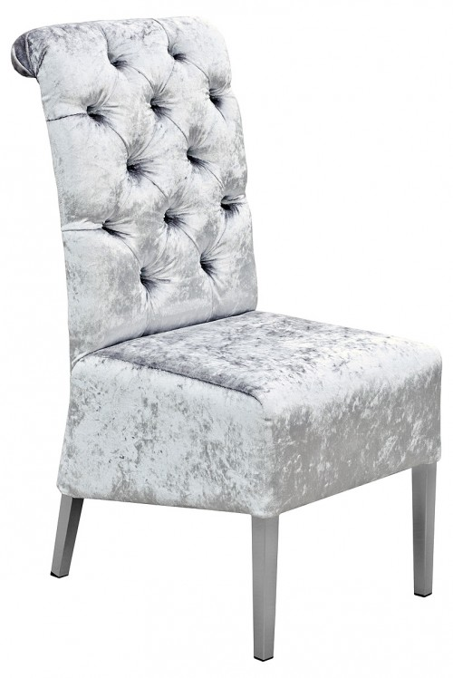 Clarissa Dining Chair in House Silver Crush Fabric