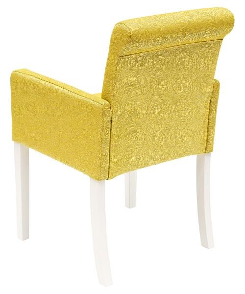 Sadie Bespoke Tub Chair - Yellow Fabric - Back View