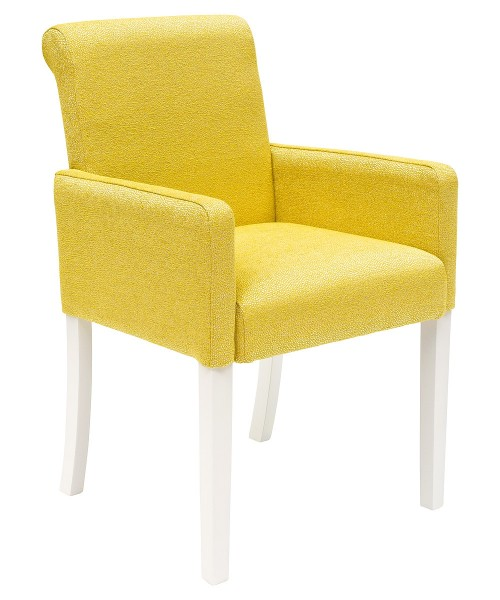 Sadie Bespoke Tub Chair - Yellow Fabric