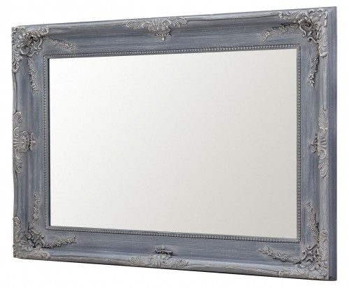 Charles Boroque Style Wall Mirror - Grey