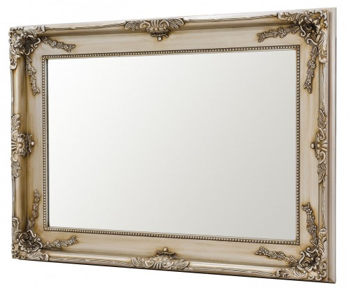 Charles Boroque Style Wall Mirror - Silver Black