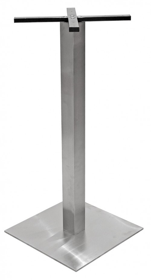 Square Stainless Steel Poseur Table Base